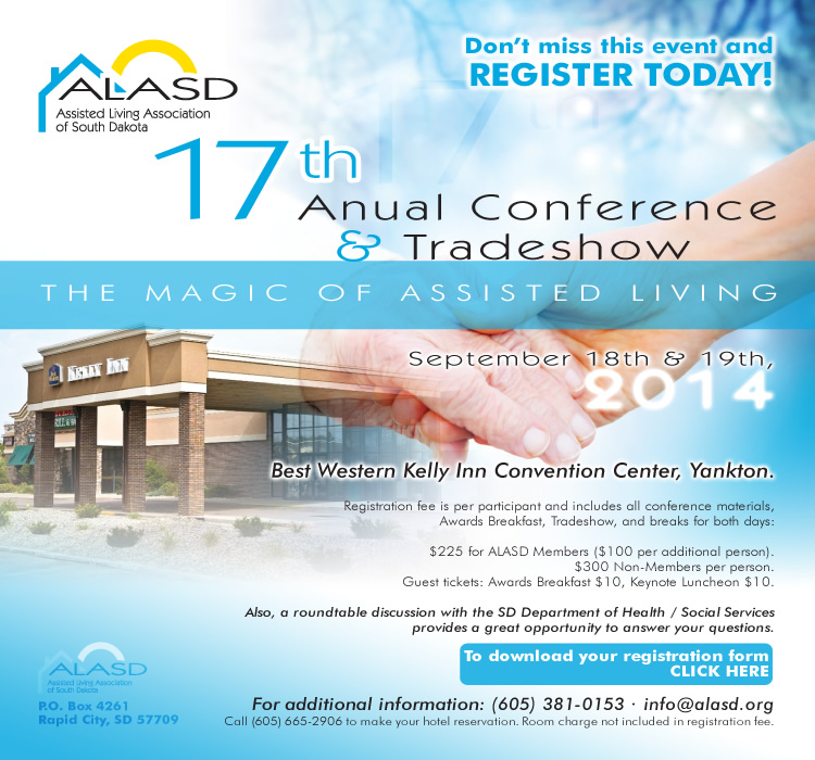 "ALASD 17th Anual Conference Tradeshow ""The Magic of Assisted Living"" - September 18th & 19th 2014"